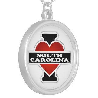 I corazón Carolina del Sur Colgante Redondo