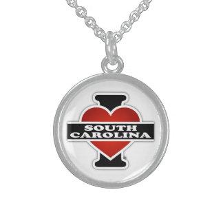 I corazón Carolina del Sur Collares De Plata Esterlina