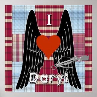 I corazón Daryl con la ballesta, las alas y el Impresiones