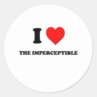 I corazón el imperceptible pegatina redonda