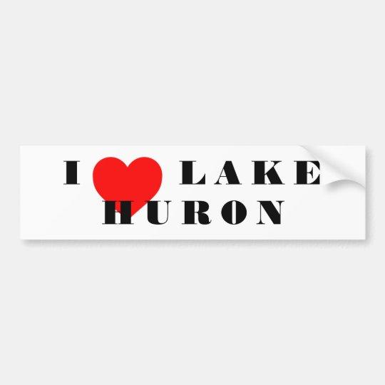 I corazón el lago Hurón Pegatina Para Coche