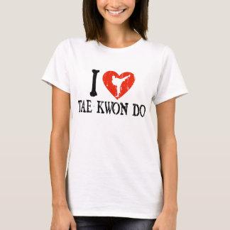 I corazón el Taekwondo - chica Camiseta