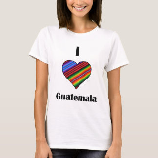 I corazón Guatemala Tipico Camiseta