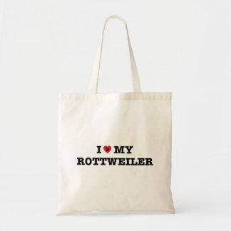 I corazón la mi bolsa de asas de Rottweiler