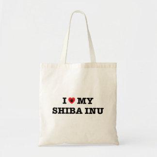 I corazón la mi bolsa de asas de Shiba Inu