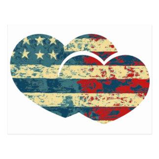 I corazón los E.E.U.U. Postal