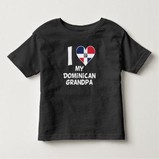 I corazón mi abuelo dominicano camiseta de bebé