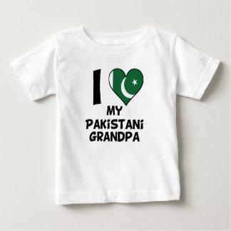 I corazón mi abuelo paquistaní camiseta de bebé