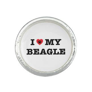 I corazón mi anillo del beagle