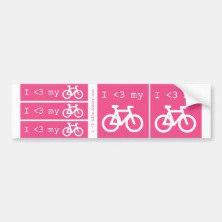 I (corazón) mi bici pegatina para coche