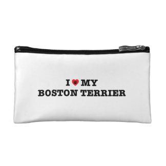I corazón mi bolso del cosmético de Boston Terrier