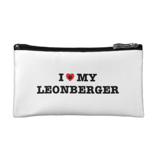 I corazón mi bolso del cosmético de Leonberger