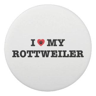 I corazón mi borrador de Rottweiler