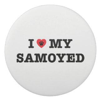 I corazón mi borrador del samoyedo