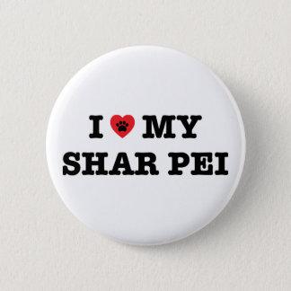 I corazón mi botón de Shar Pei