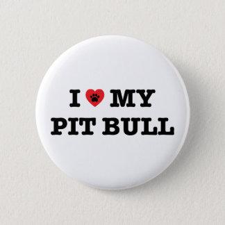 I corazón mi botón del pitbull