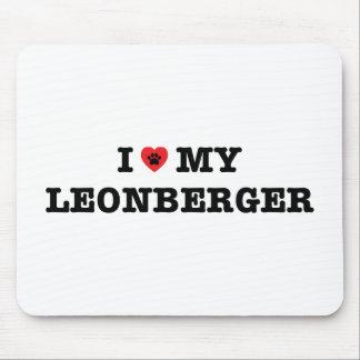 I corazón mi cojín de ratón de Leonberger Alfombrilla De Ratón