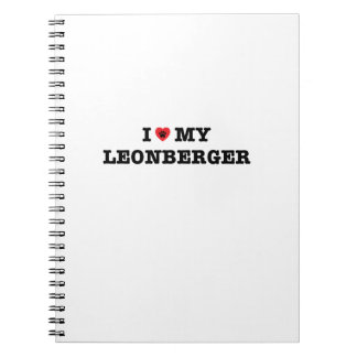 I corazón mi cuaderno espiral de Leonberger