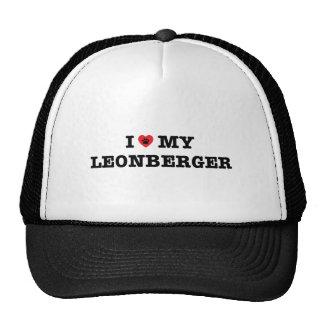 I corazón mi gorra del camionero de Leonberger