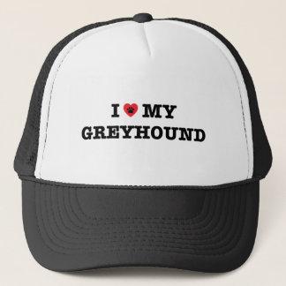 I corazón mi gorra del camionero del galgo