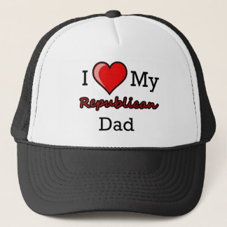 I corazón mi gorra republicano del papá