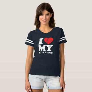I corazón mi Grunge del novio (texto blanco) Camiseta