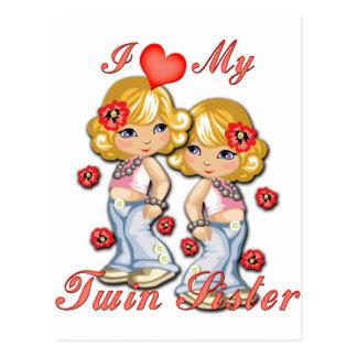 I corazón mi hermana gemela tarjetas postales