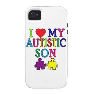 I corazón mi hijo autístico iPhone 4/4S funda