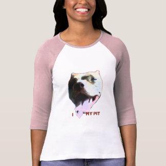 I (corazón) mi hoyo camiseta