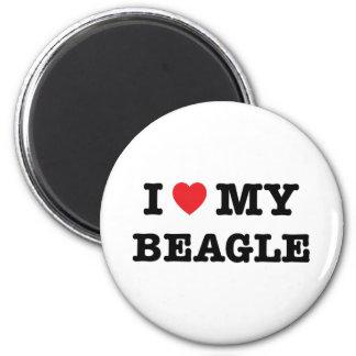 I corazón mi imán del beagle