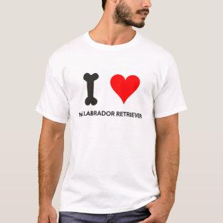 I corazón mi labrador retriever camiseta