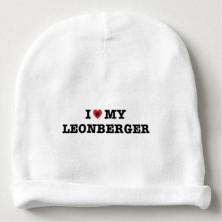 I corazón mi Leonberger Gorrito Para Bebe