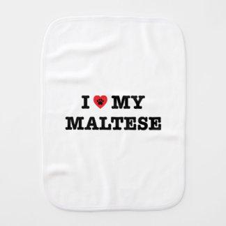 I corazón mi maltés paños para bebé
