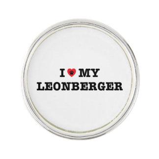 I corazón mi Pin de la solapa de Leonberger