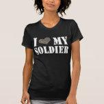 I corazón mi soldado camisetas