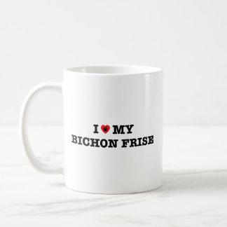 I corazón mi taza de café de Bichon Frise