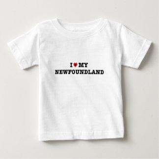 I corazón mi Terranova Camiseta De Bebé