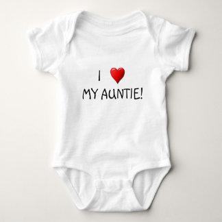 ¡I corazón mi tía! Body Para Bebé