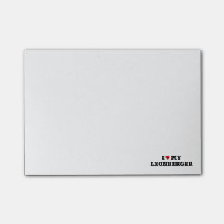 I corazón mis notas de post-it de Leonberger