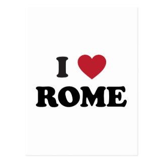 I corazón Roma Italia Tarjeta Postal