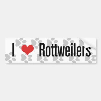 I (corazón) Rottweilers Pegatina Para Coche