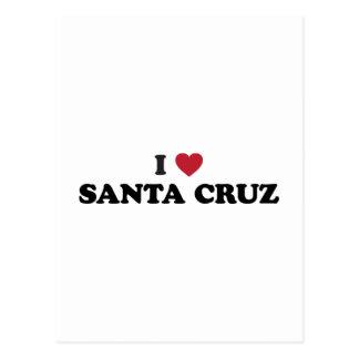 I corazón Santa Cruz Postal