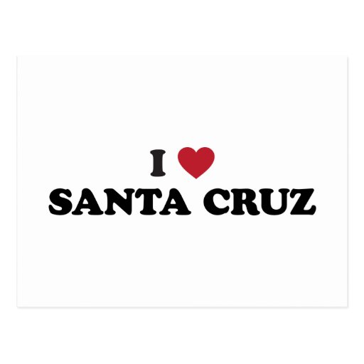 I corazón Santa Cruz Tarjetas Postales