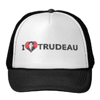 I corazón Trudeau Gorras