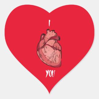 I corazón usted pegatina en forma de corazón