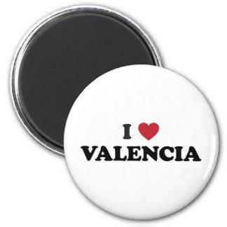 I corazón Valencia Imán Redondo 5 Cm