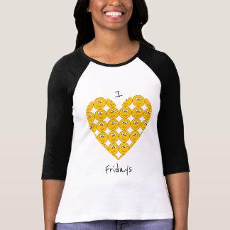 """I """"corazón"""" viernes con la camiseta sonriente de"""
