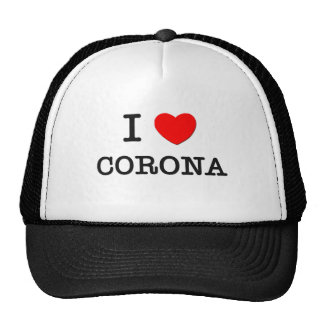 I CORONA del corazón Gorras