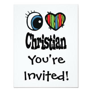 I cristiano del corazón (amor) invitación 10,8 x 13,9 cm