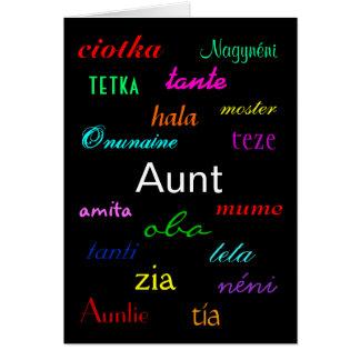 """I de una tía tarjeta de Birthday"" - personalizabl"